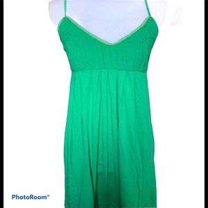 Billabong green summer babydoll sun dress L